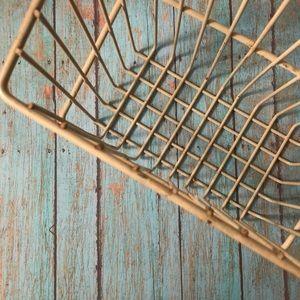 Vintage Locker-Style Wire Basket